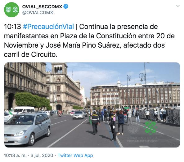 Tuit del Centro de Información Vial