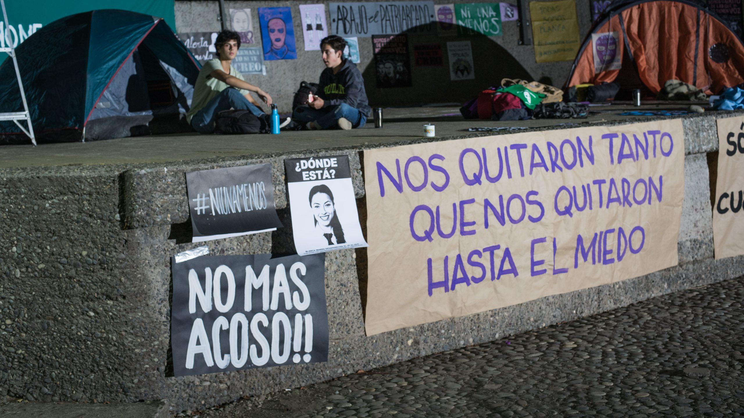 Imagen de 'La Jauría' de una toma de protesta.
