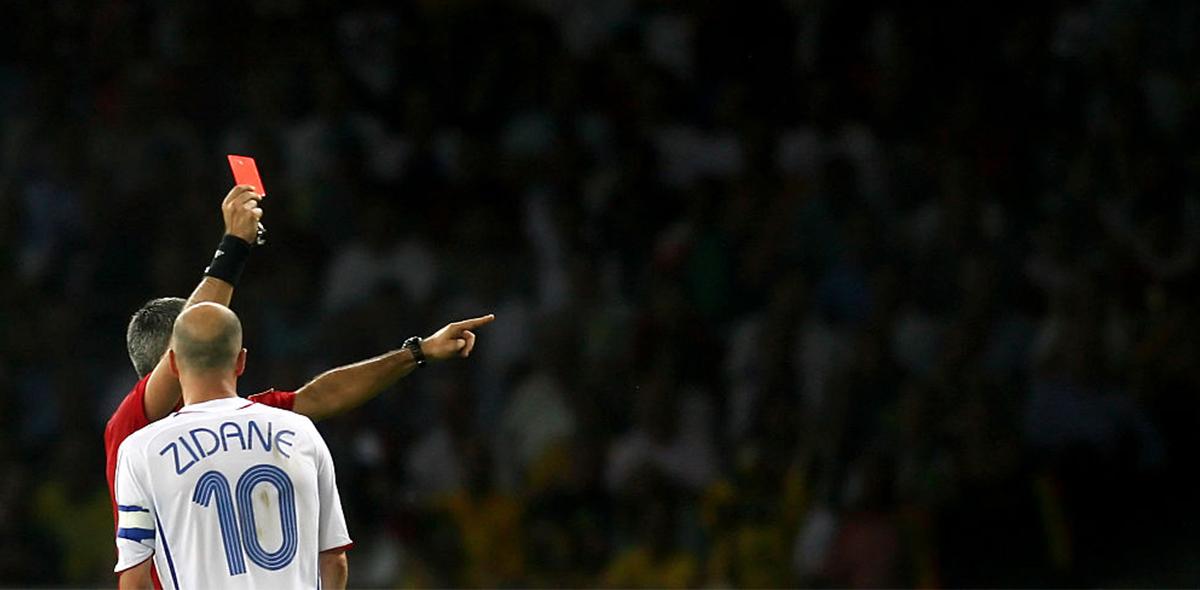 La peor imagen: El día del retiro de Zinedine Zidane... con cabezazo a Materazzi
