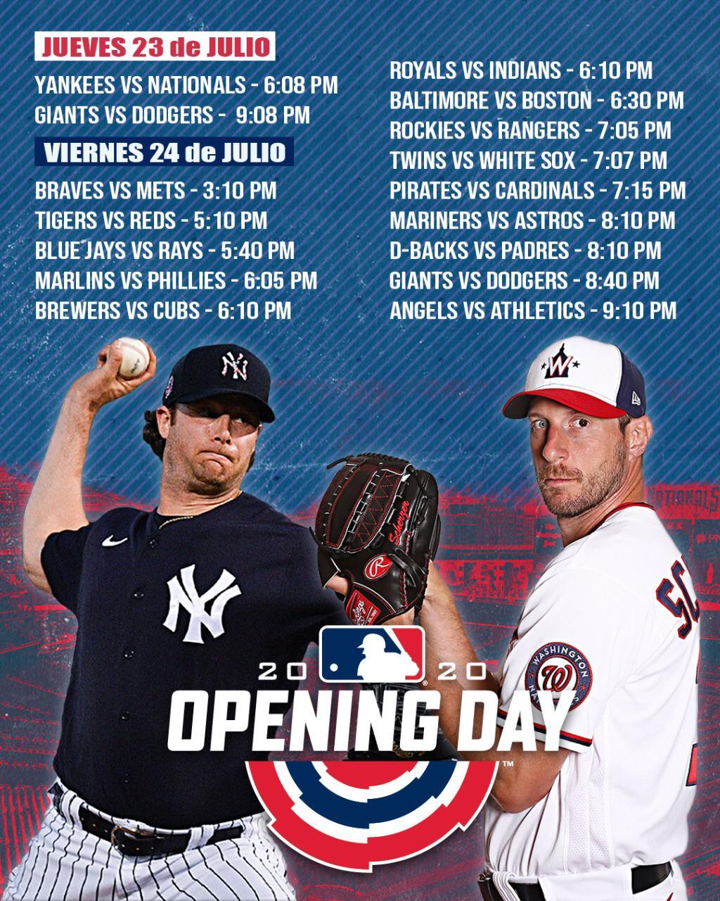 Apunten y aparten: Estas son las fechas y horarios del regreso de la MLB