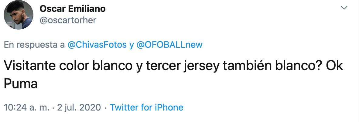 Único y polémico: Este sería el jersey de visitante de Chivas para el Apertura 2020