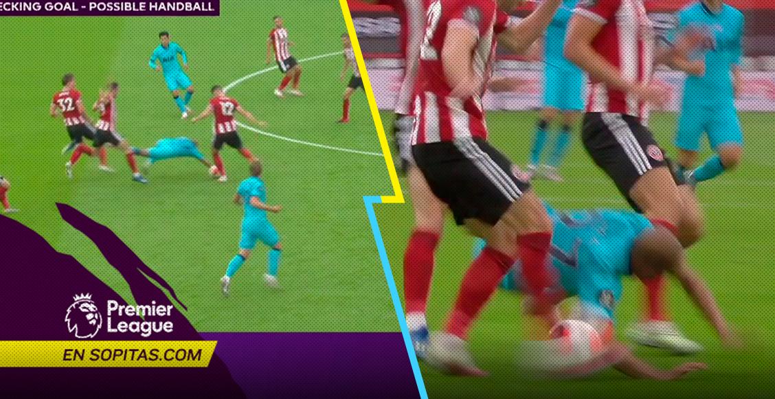 """¿Mano? El polémico gol que el VAR le """"robó"""" a Harry Kane en el Sheffield vs Tottenham"""