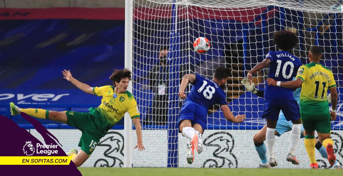 Giroud empató el récord de Cristiano Ronaldo en la Premier League en el triunfo del Chelsea sobre el Norwich