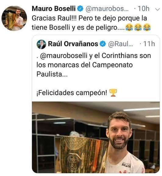 Mauro Boselli campeón con Corinthians