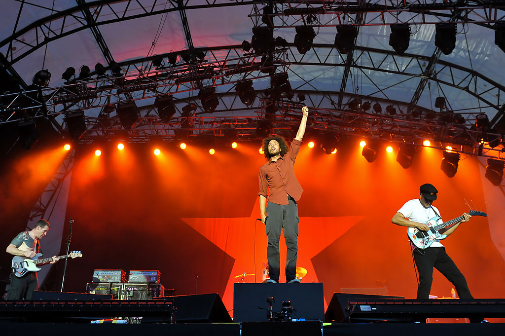 La banda Rage Against the Machine con Tom Morello y Zach de la Rocha