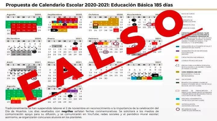 Calendario escolar falso sep