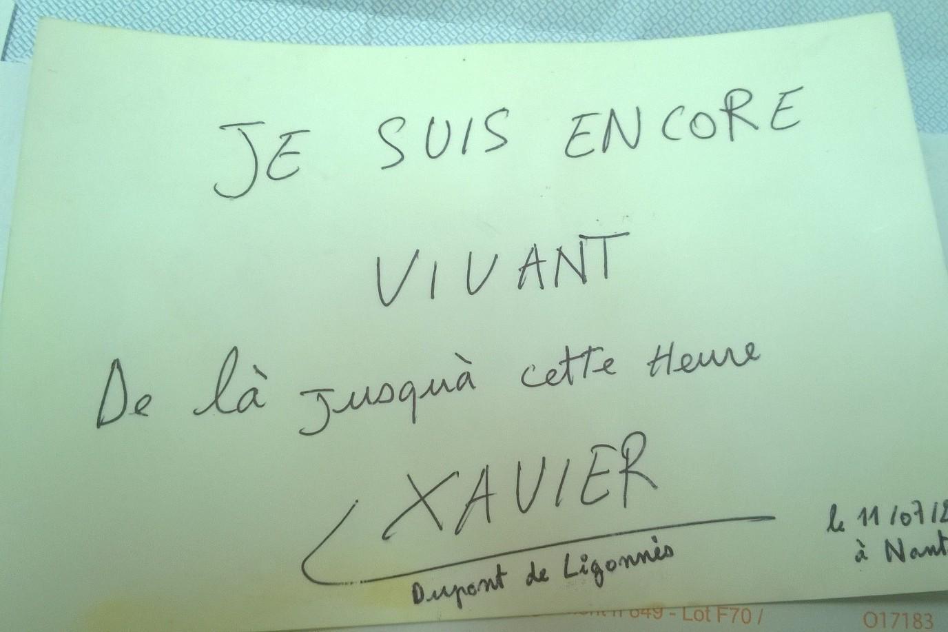 Carta Xavier Dupont