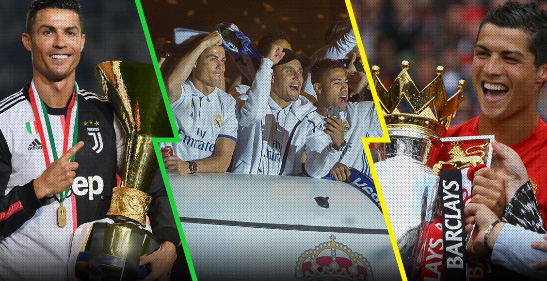 En la élite: Cristiano Ronaldo entró al 'top 10' de los futbolistas con más títulos de la historia