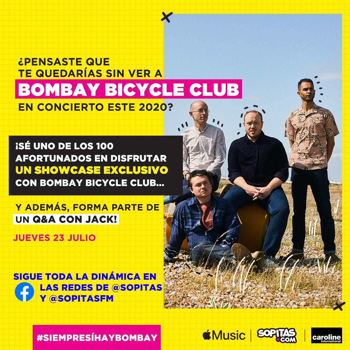 ¡SOPITAS.COM TE INVITA A UN SHOW EXCLUSIVO CON BOMBAY BICYCLE CLUB CON TODO Y Q&A!