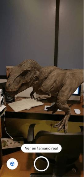 Como en Jurassic Park: Así puedes ver dinosaurios a través de la cámara de tu celular y con ayuda de Google