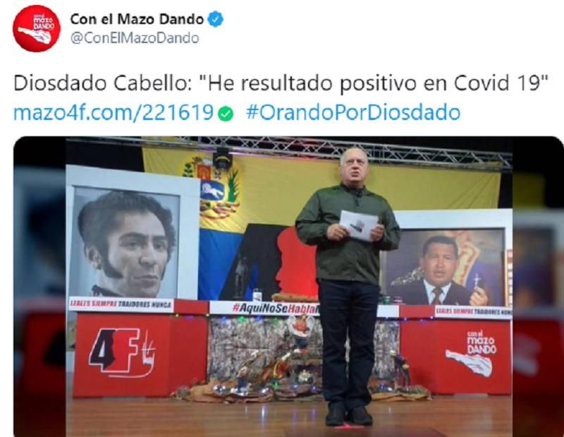 Diosdado Cabello COVID-19