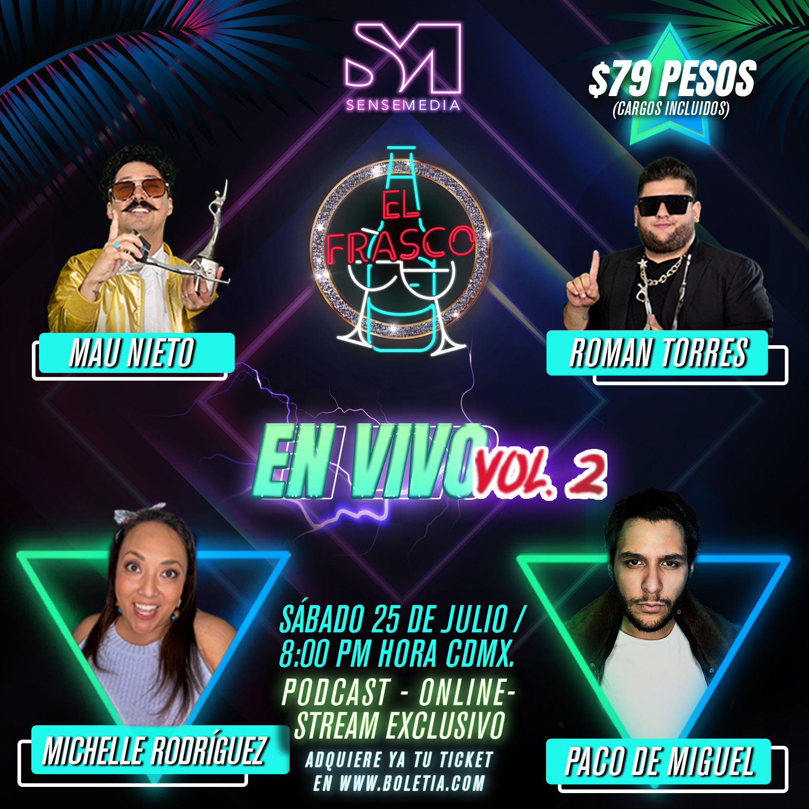 Show en vivo de El Frasco