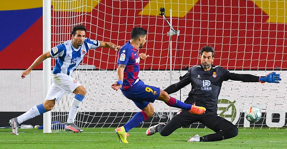 Un gol del tridente Griezmann, Messi y Suárez termina con el sueño del Espanyol