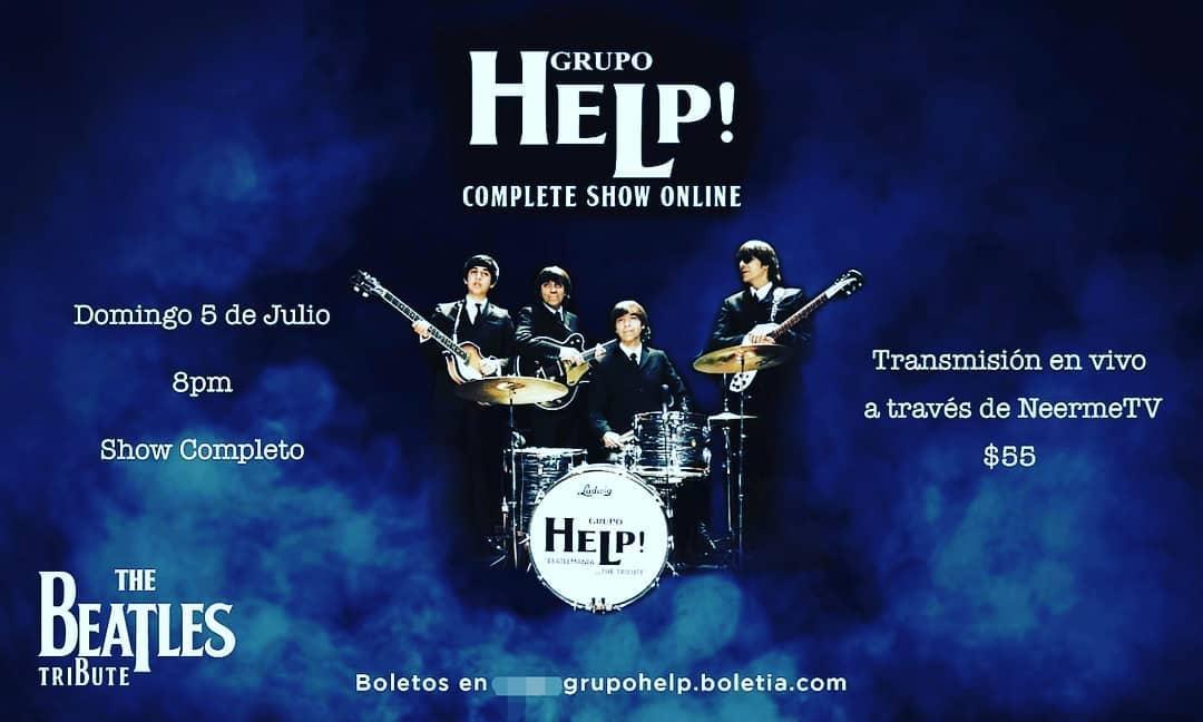 Vive la Beatlemanía desde casa con el show en streaming de Grupo Help!