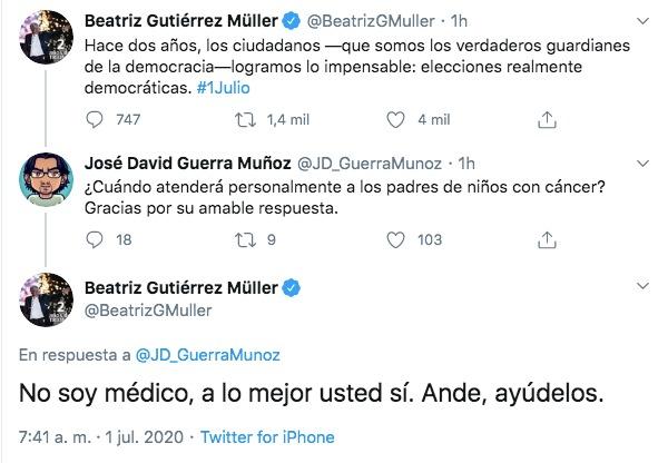 Tuits de Beatriz Gutierrez Muller
