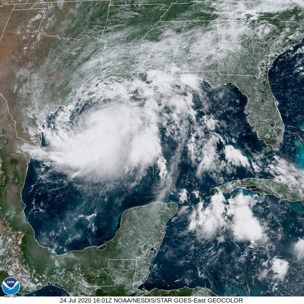'Hanna' ya se convirtió en huracán y ocasionará lluvias intensas en al menos 4 estados del país