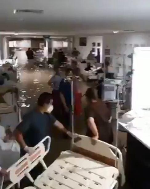 Hospital Materno Infantil de Reynosa se inundó tras las lluvias causadas por 'Hanna'