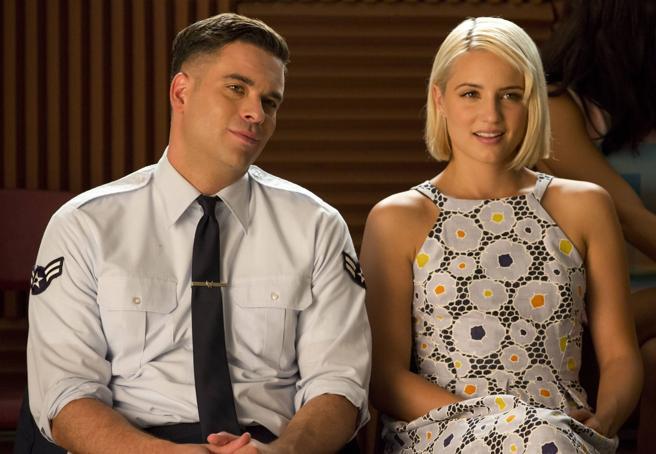 Quinn y Noah en Glee
