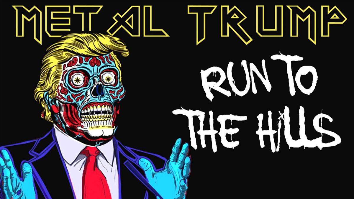 "Vean a Metal Trump cantar ""Run to the Hills"" de Iron Maiden"