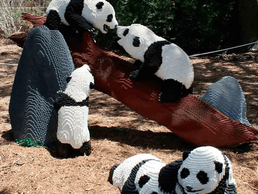 ¡Ternuringa! La increíble exposición de Sean Kenney con animales hechos con millones de piezas LEGO