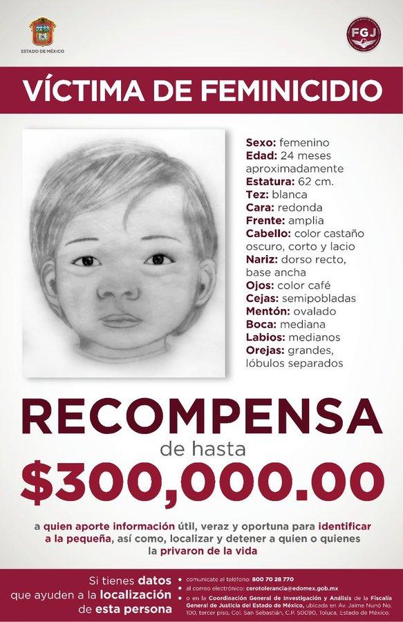 recompensa-feminicidio-bebe-edomex