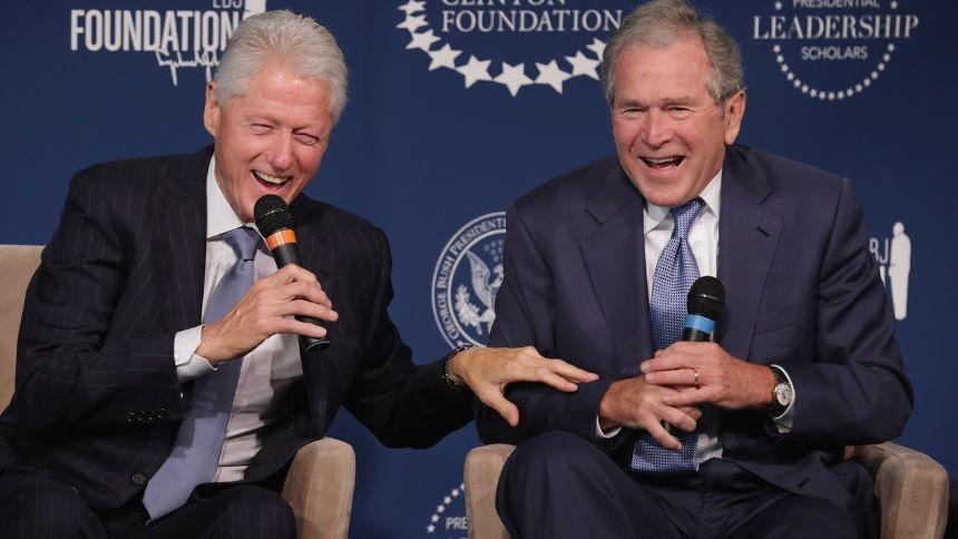 ¡Castigados! Esconden los retratos de George Bush y Bill Clinton en la Casa Blanca
