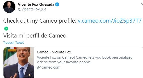 felicitación Vicente FOx