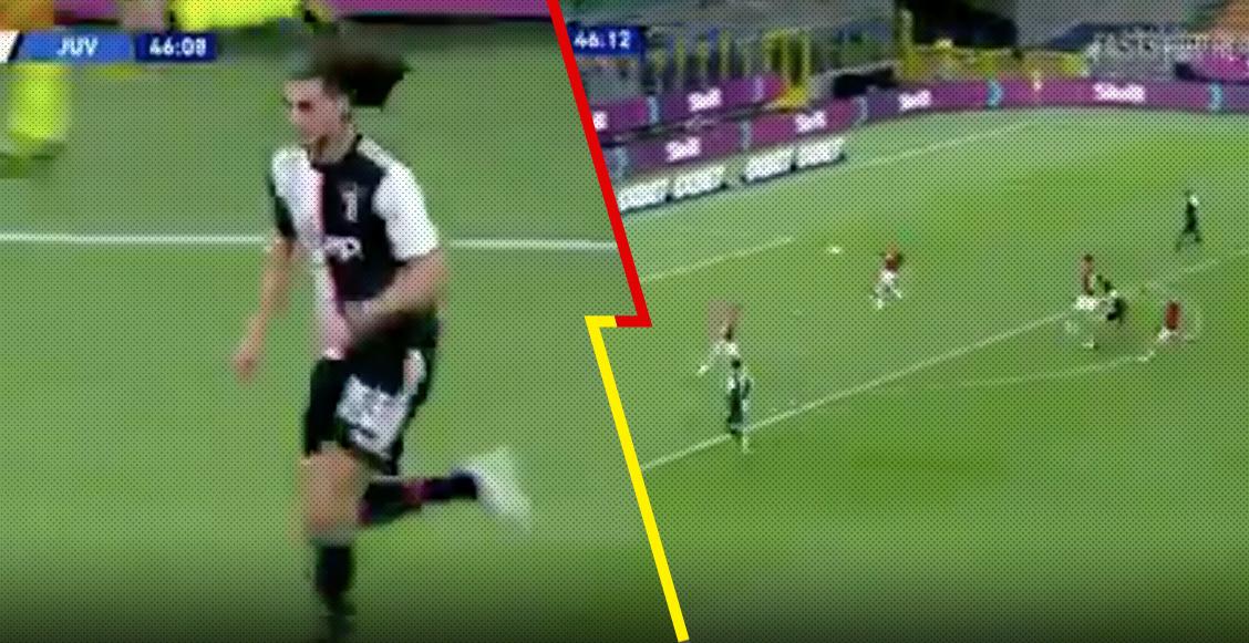 Se estrenó en la Serie A: El golazo de Adrien Rabiot 'a lo Messi' en el Milan vs Juventus