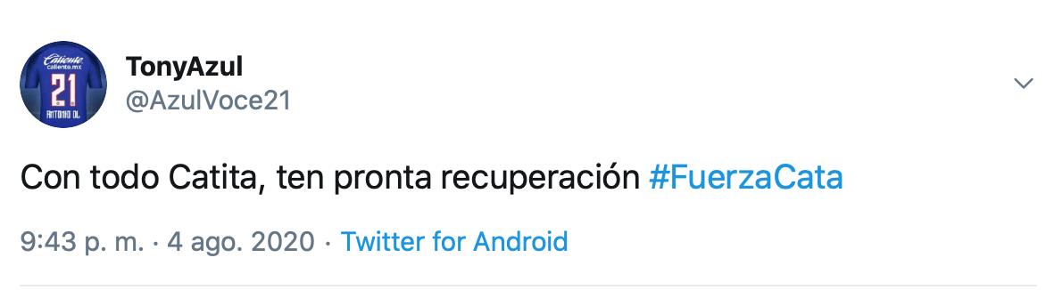 'Cata' Domínguez recibe mensajes de apoyo