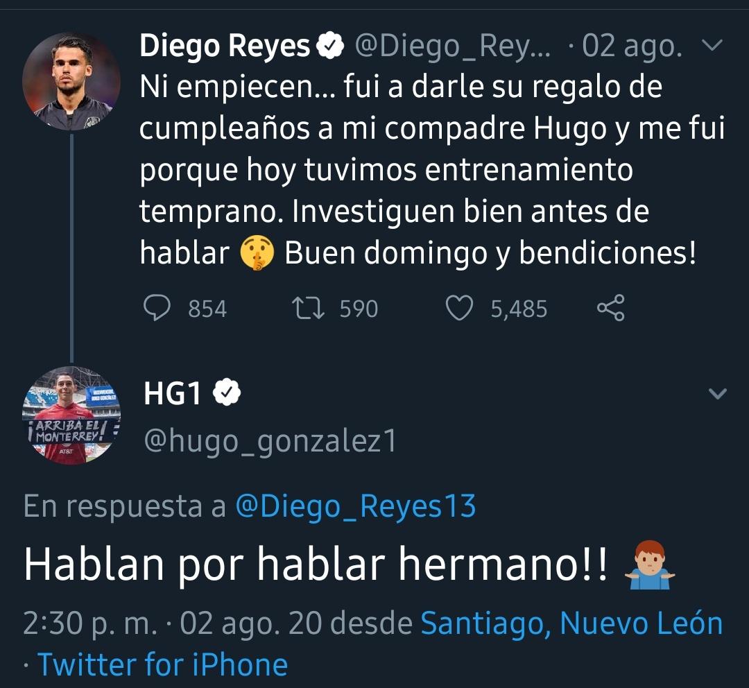 La historia detrás de los contagios de coronavirus de Hugo González y Diego Reyes