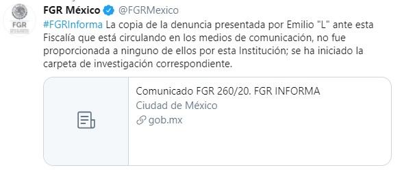 tuit FGR denuncia Lozoya