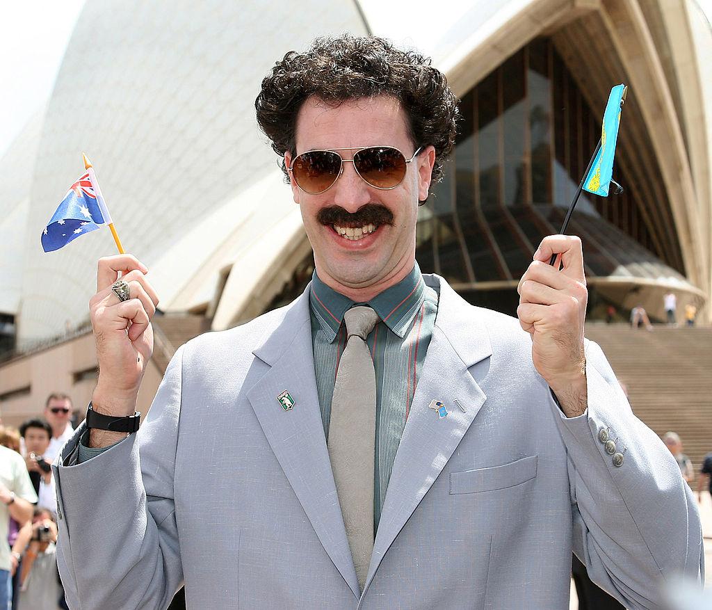 ¿Borat 2? Cacharon a Sacha Baron Cohen filmando con el disfraz de 'Borat'