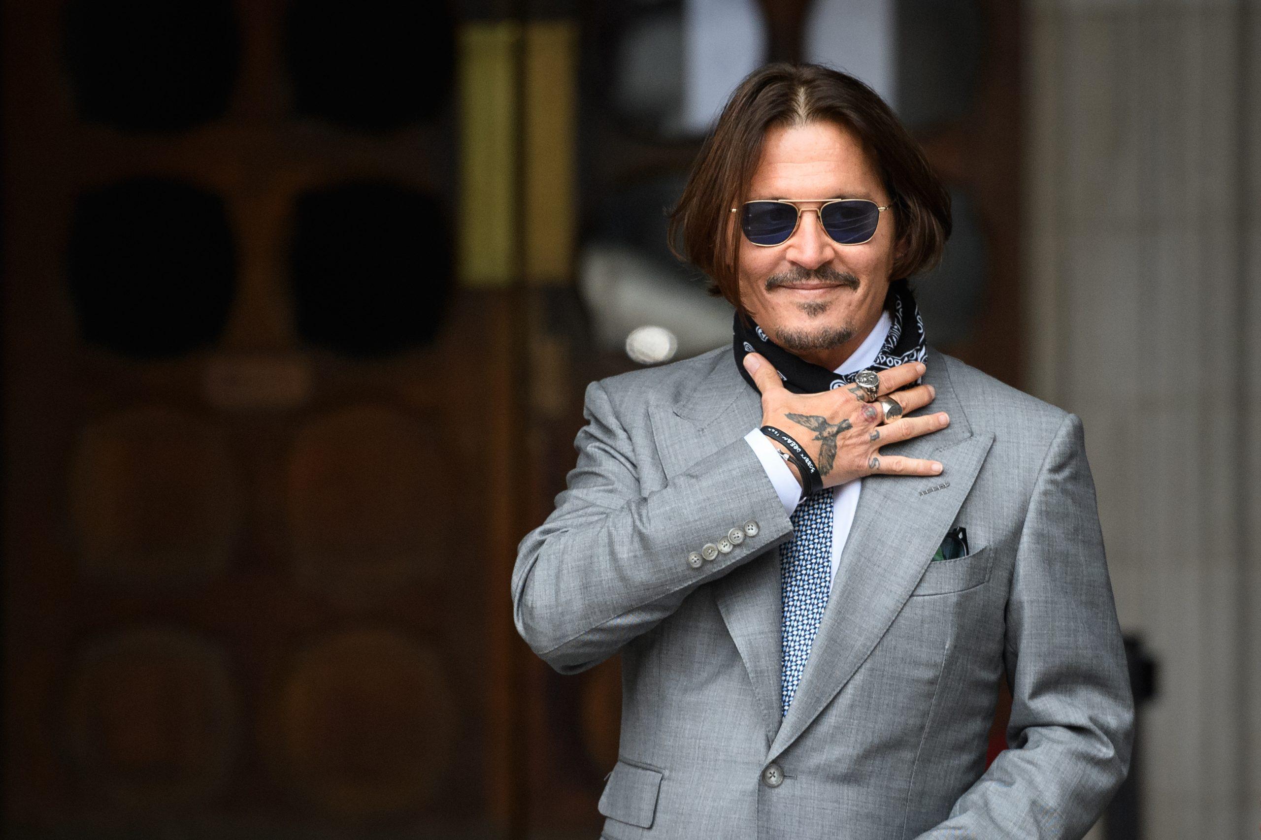 Johnny Depp el 16 de julio de 2020 en la Royal Courts of Justice de Londres.
