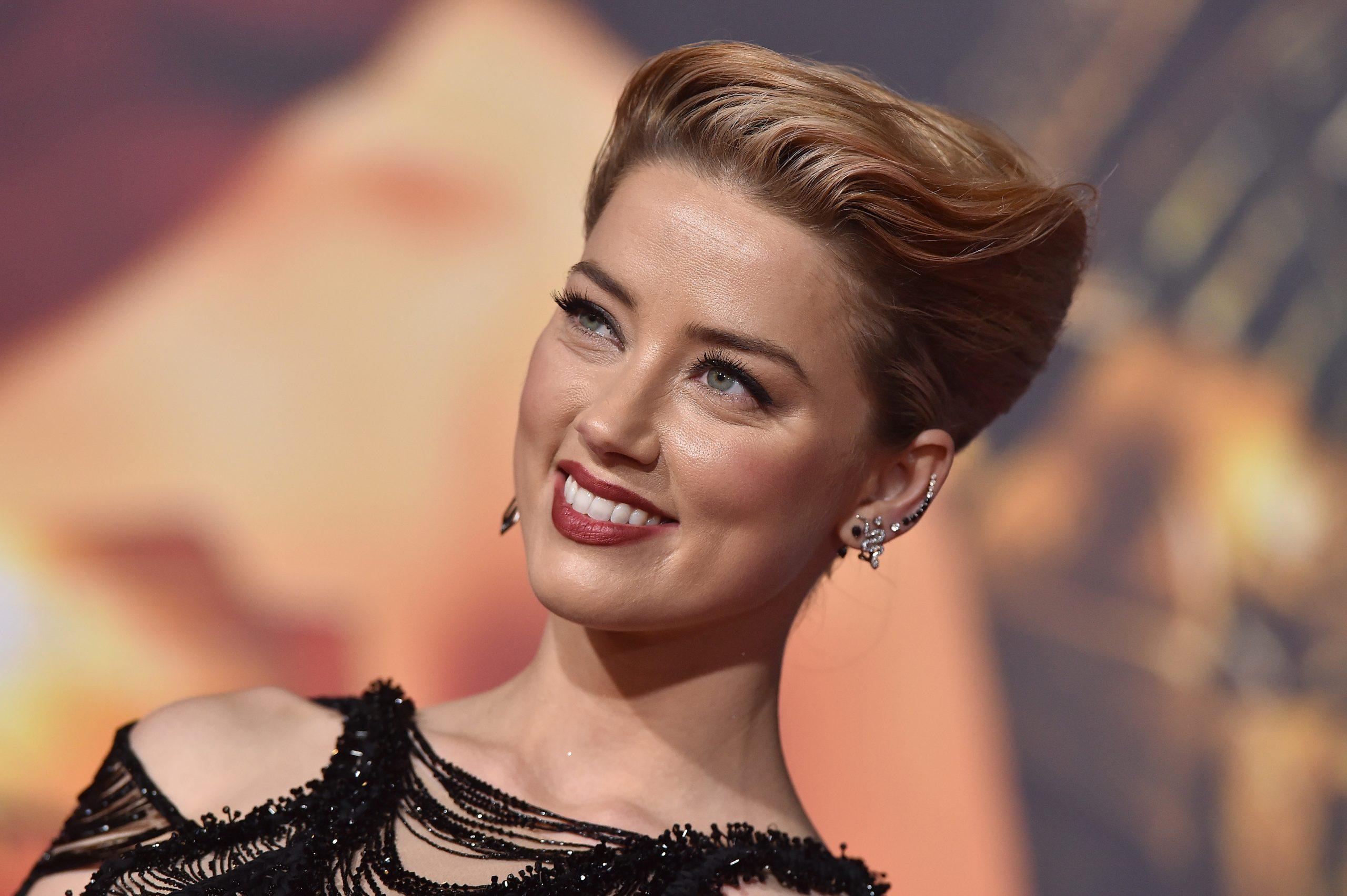 Amber Heard en la premiere de 'Justice League' donde da vida a Mera, esto en noviembre de 2017.