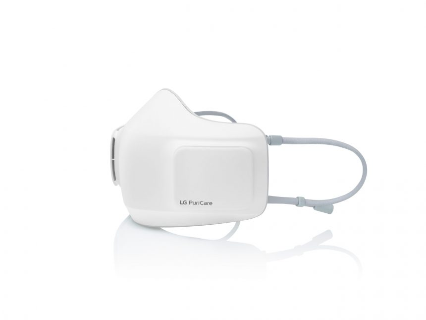 LG estrena mascarilla electrónica con purificador de aire integrado