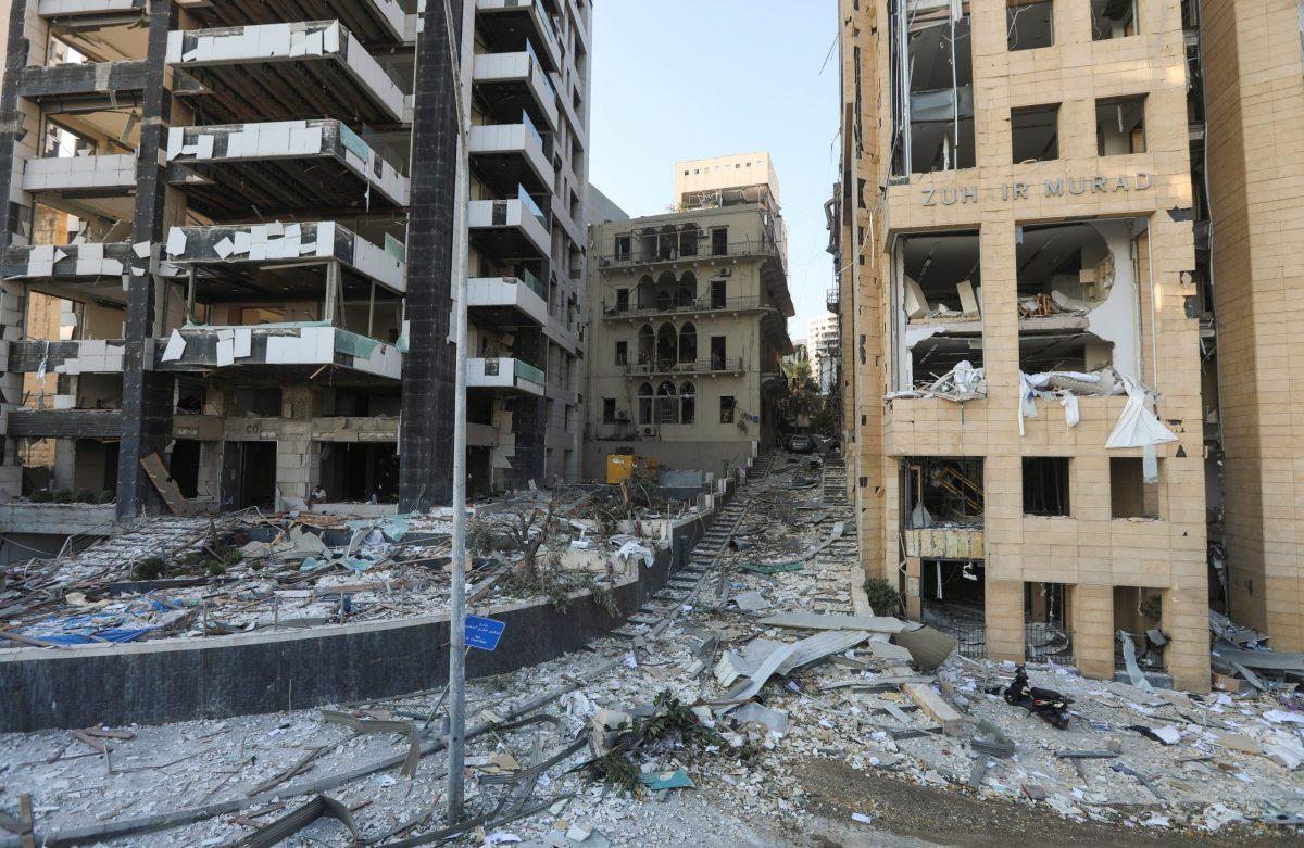 Explosión en Beirut Día después