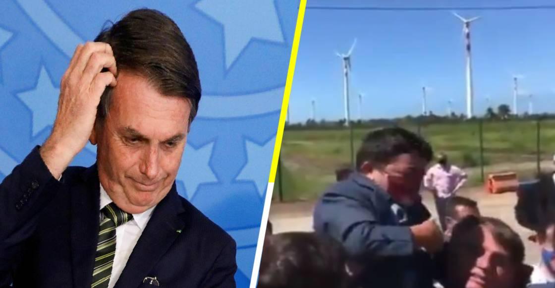 ¡Plop! Bolsonaro carga a señor pequeño confundiéndolo con un niño