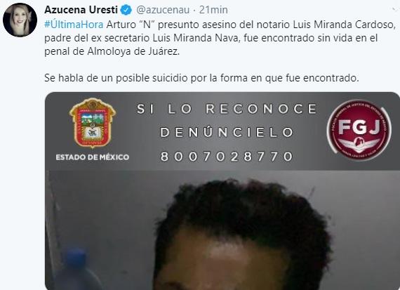 tuit azucena uresti Luis Miranda