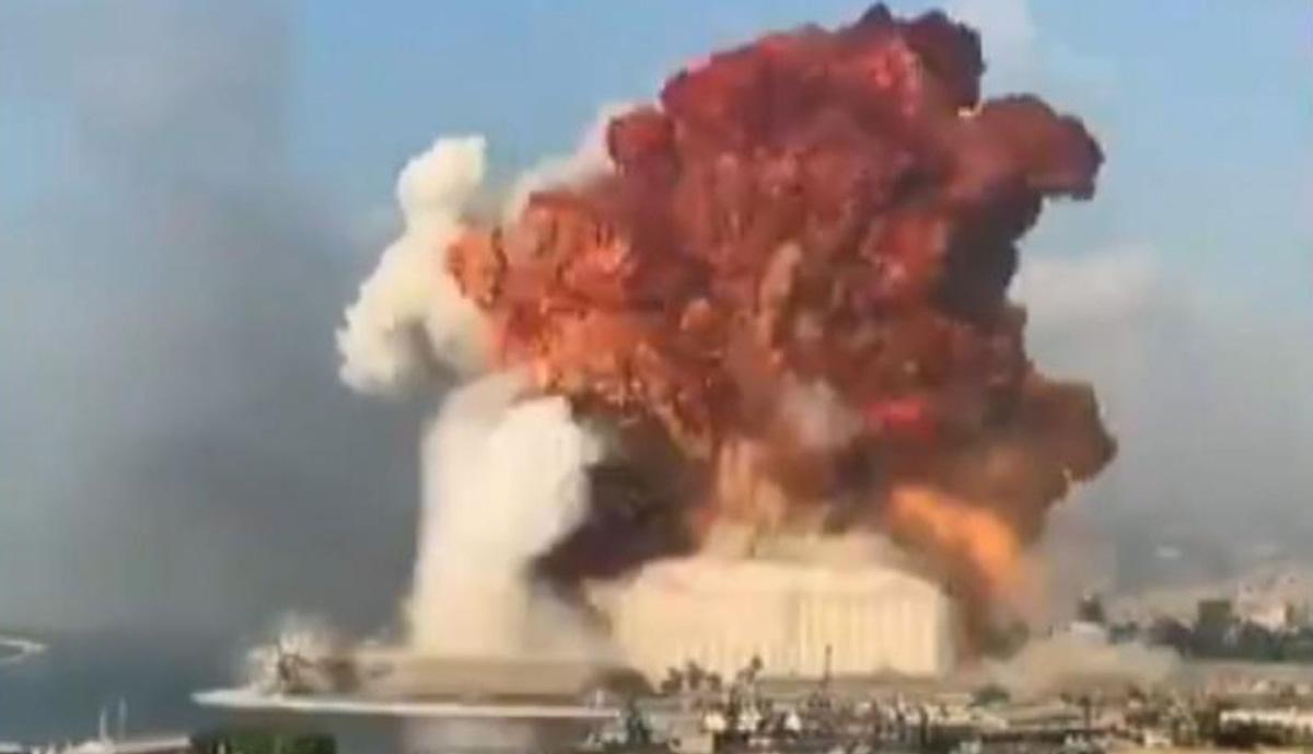 Fuerte explosion sacude Beirut en Libano