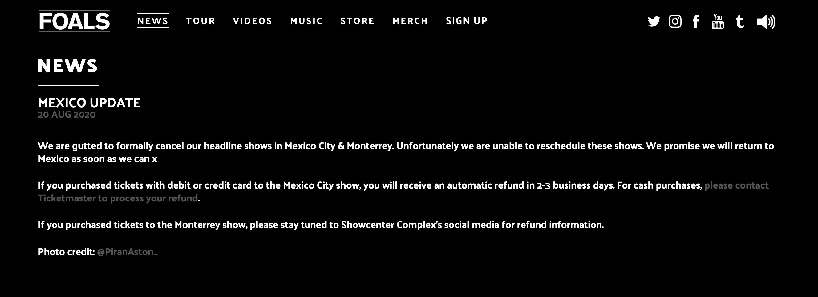 ¿Compraste boleto para ver a Foals en México? Te dejamos la información de tu reembolso