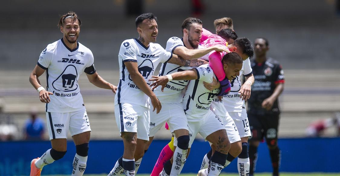 El golazo de Bryan Mendoza que sentenció la goleada de Pumas a Xolos