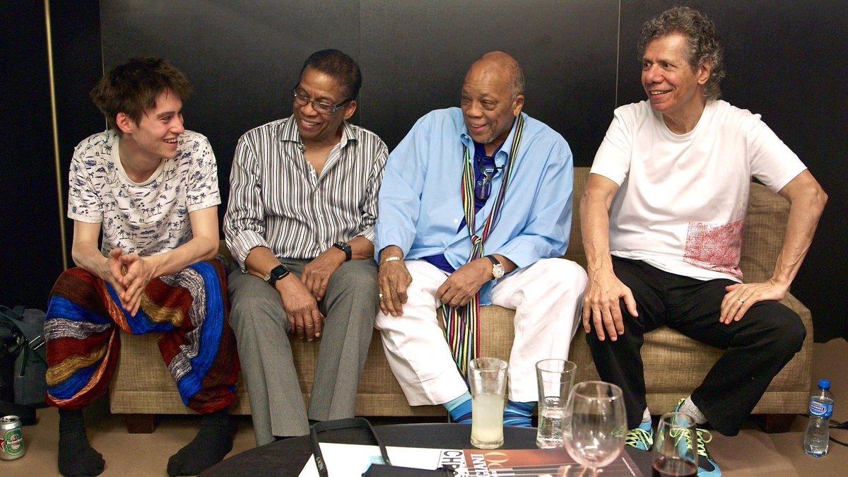 Jacob Collier con sus mentores