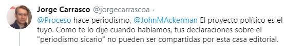 Tuit Jorge Carrasco Proceso