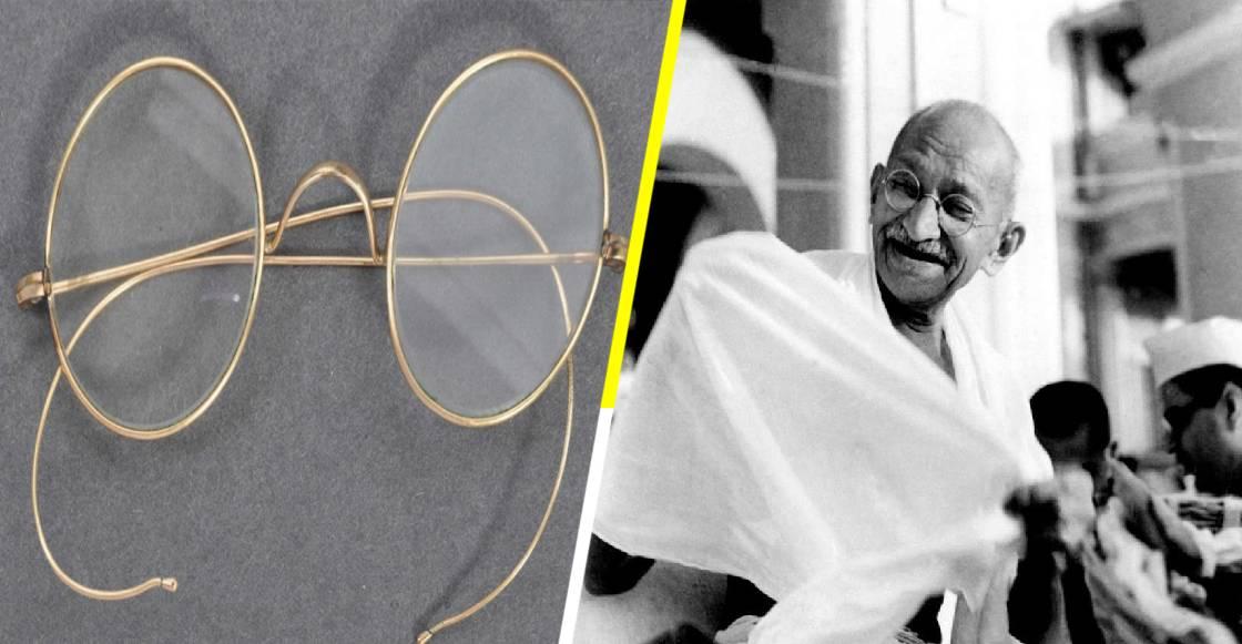 Los anteojos de Gandhi fueron subastados por más de siete millones de pesos