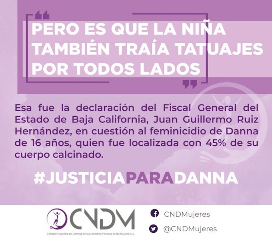 Feminicidio de Danna Reyes fue 'por estar tatuada', asegura fiscal
