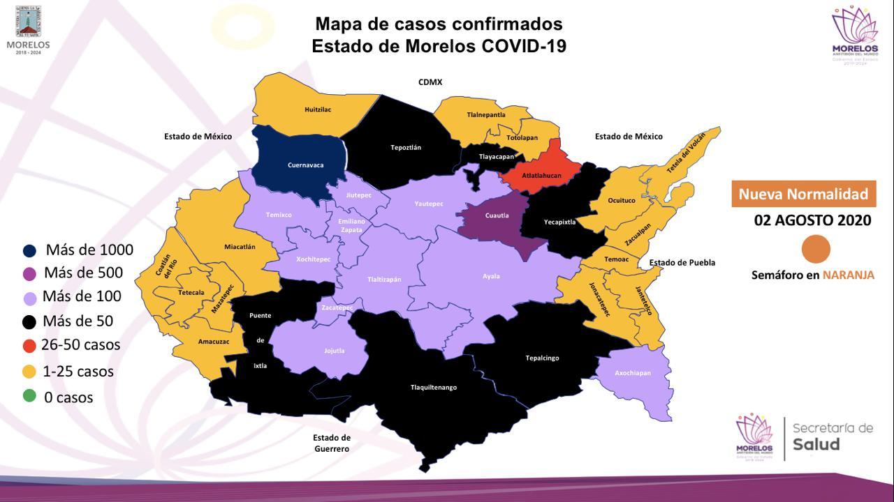 Casos covid-19 en Morelos