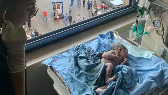 Revelan video de una mujer que estaba por dar a luz cuando ocurrió la explosión de Beirut