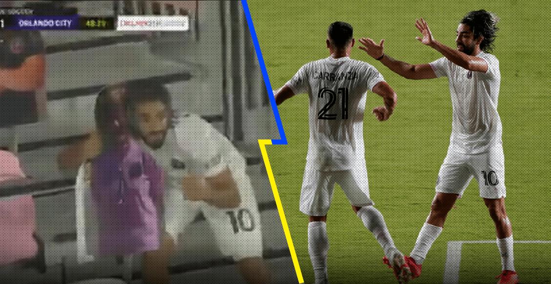 Pizarro marcó con el Inter Miami y festejó en las gradas con la afición ficticia