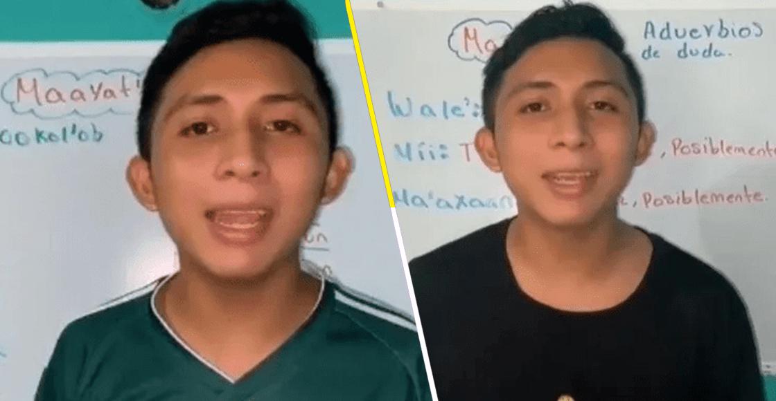Santos Tuz: El joven que la está rompiendo en TikTok por enseñar maya