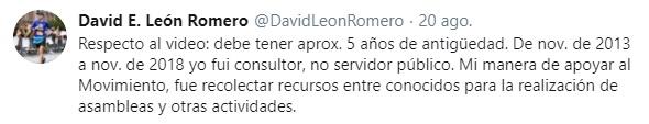 Tuit de David León